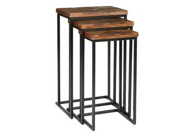 Cainthorne Brown/Black Accent Table (Set of 3)