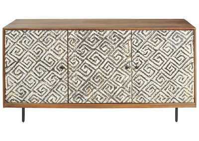 Kerrings Brown/Black/White Accent Cabinet,Signature Design By Ashley
