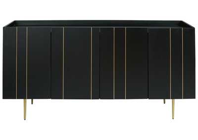 Brentburn Black/Gold Accent Cabinet,Signature Design By Ashley