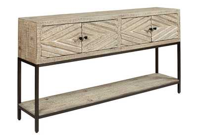 Roanley Distressed White Console Table