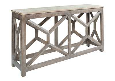 Lanzburg Antique Gray Console Table