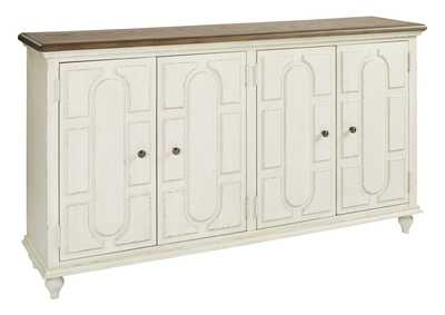Roranville Antique White Accent Cabinet