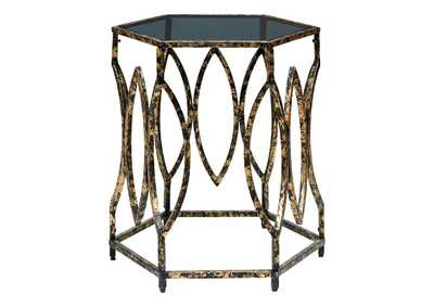 Keita Black/Gold Accent Table