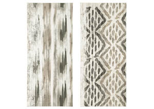 Draper Brown/Black Wall Art Set (Set of 2)