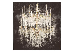 Donda Black/White/Gold Finish Wall Art