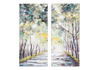 Donagh Green Wall Art Set (Set of 2)
