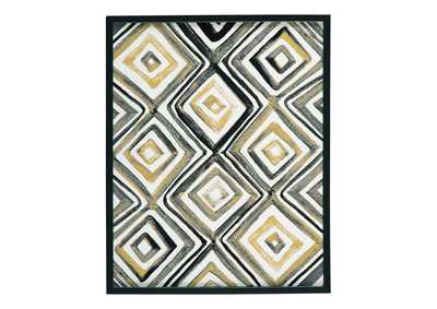 Priela Black/Gold Finish Wall Art