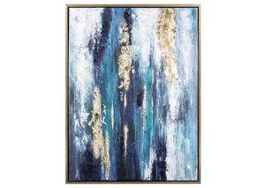 Dinorah Teal Blue Wall Art
