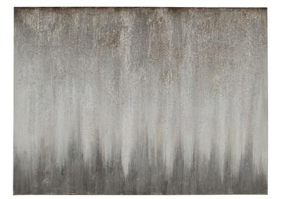 Paytah Silver Finish Wall Art