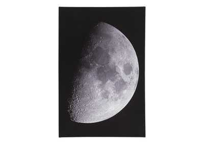 Image for Draco Black/White Moon Wall Art