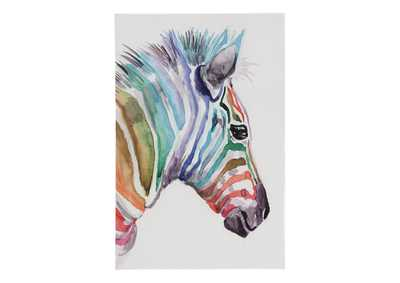 Image for Priya Multicolor Zebra Wall Art