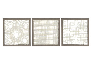 Odella Cream/Taupe Wall Decor Set