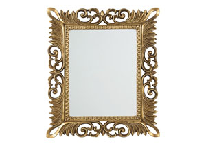 Denisha Antique Gold Finish Accent Mirror