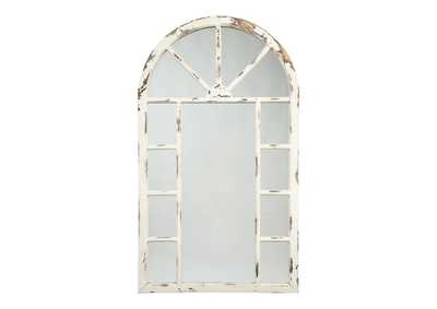 Image for Divakar Antique White Accent Mirror