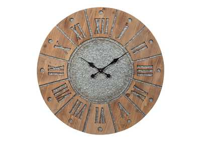 Image for Payson Antique Gray/Natural Wall Clock