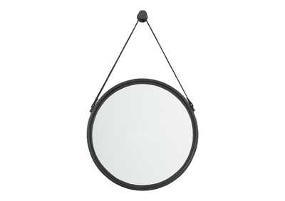 Image for Dusan Black Round Accent Mirror