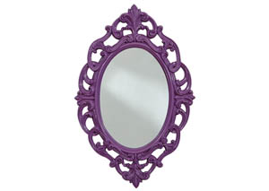 Diza Purple Accent Mirror
