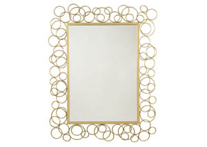 Dhaval Gold Accent Mirror