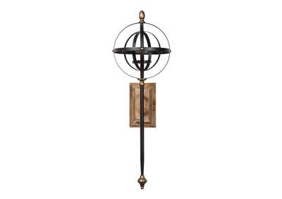 Dina Black/Gold Finish Wall Sconce,Signature Design By Ashley