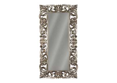 Image for Lucia Antique Silver Finish Accent Mirror