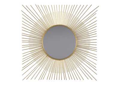 Image for Elspeth Gold Finish Accent Mirror