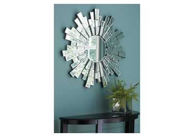 Braylon White Accent Mirror