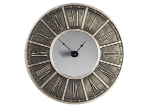 Peer Champagne/Black Wall Clock