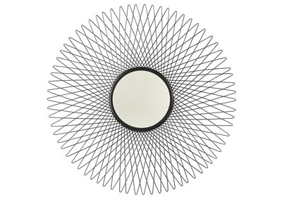 Dooley Black Accent Mirror
