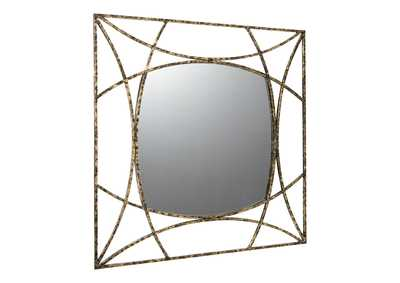 Image for Keita Black/Gold Accent Mirror