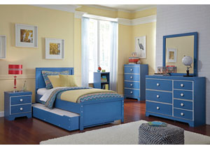 Bronilly Twin Trundle Bed w/Dresser & Mirror