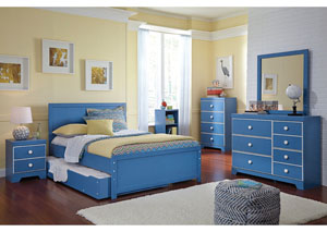 Bronilly Full Trundle Bed w/Dresser & Mirror
