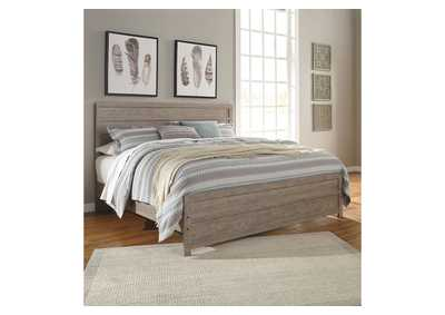 Culverbach Gray King Panel Bed