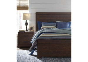 Arkaline Brown Queen Panel Bed,Signature Design By Ashley