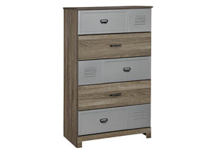 McKeeth Gray 5 Drawer Chest