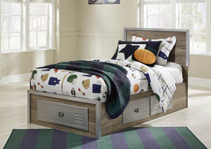 McKeeth Gray Twin Storage Bed