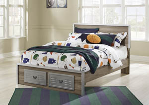 McKeeth Gray Full Platform Storage Bed