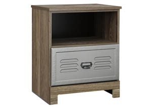 McKeeth Gray 1 Drawer Nightstand
