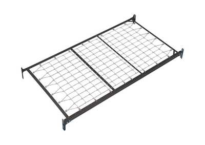 Frames and Rails Metallic Twin Metal Day Bed Foundation