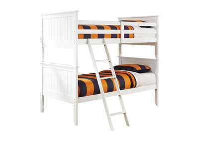 Lulu White Twin/Twin Bunk Bed