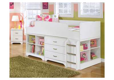 Lulu Twin Loft Storage Bed