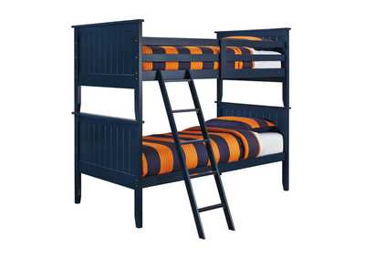 Image for Leo Blue Twin/Twin Bunk Bed
