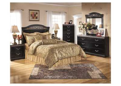 Constellations Queen/Full Panel Headboard w/Dresser, Mirror & Nightstand