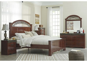 Fairbrooks Estate King Poster Bed,Signature Design By Ashley