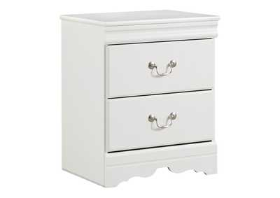 Image for Anarasia White Two Drawer Nightstand