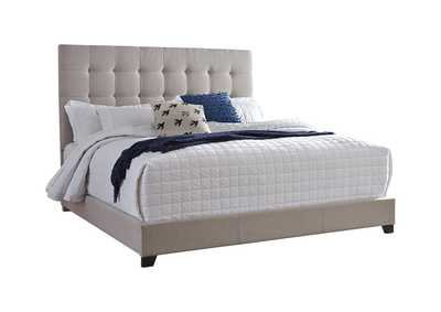 Dolante Beige King Upholstered Bed