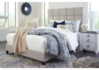 Dolante Beige King Upholstered Bed,Signature Design By Ashley
