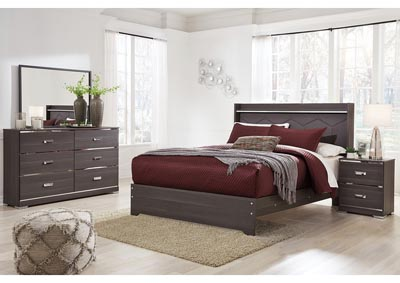 Annikus Gray Bedroom Dresser w/Mirror,Signature Design By Ashley