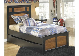Aimwell Brown Twin Panel Bed