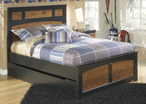 Aimwell Dark Brown Full Panel Bed