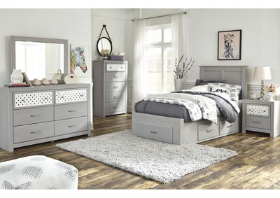 Arcella Gray Twin Storage Bed,Signature Design By Ashley